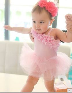 New Baby Girl Romper Jumpsuit Birthday Party Tutu Dress Photo Prop SIZE0 1 2