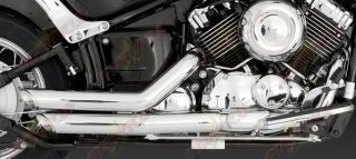 06 09 Yamaha V Star 650 49 State Vance Hines Shortshots Staggered Exhaust