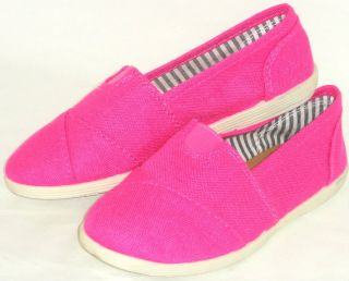 Girls Kids Canvas Ballet Flats Rubber Grip Comfy Sneaker Tennis