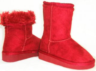 Sooo Comfy Super Warm Faux Fur Lined Suede Girls Boys Kids Flat Boots