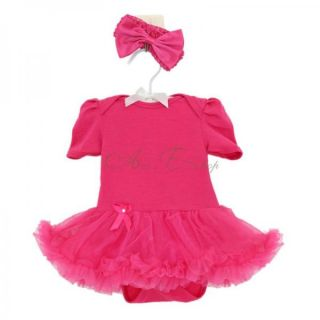 Sz 0 9M Baby Toddler Girl Ruffles Tutu Petti Skirt Dress Romper One Piece Outfit