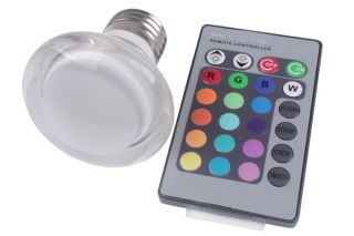 85 265V E27 3W RGB Mushroom Crystal LED Light Lamp Bulb Remote Control 16 Color