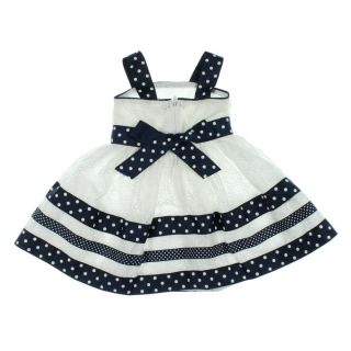 Sweet Heart Rose New White Eyelet Polka Dot Toddler Girls Sundress 2T BHFO