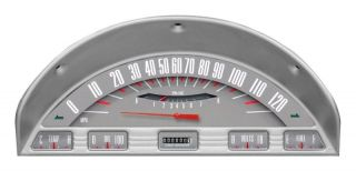 Classic Instruments 1956 Ford F 100 Truck Gauge Panel Cluster Dash Bezel Grey