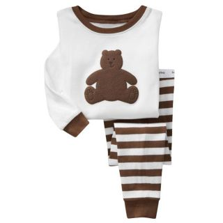 Kids Baby Girls Boys Grown Bear Pajamas Playsuit Outfits Size 2 7 Year