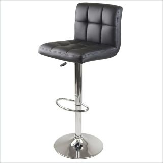 Winsome Stockholm Air Lift Swivel Stool w/ Faux Leather Seat in Black   93150