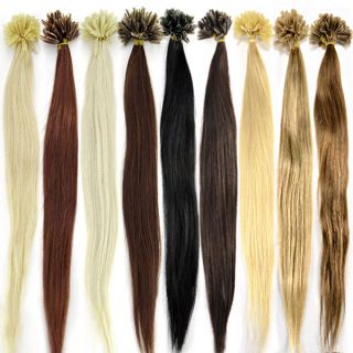 "100S Pre Bonded 16"" Nail U Tip Remy 100 Real Human Hair Extensions 50g"