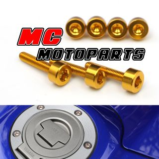 Gold Honda Gas Fuel Cap Bolts Kit CBR600RR 07 08 2009 2010 2011 2013