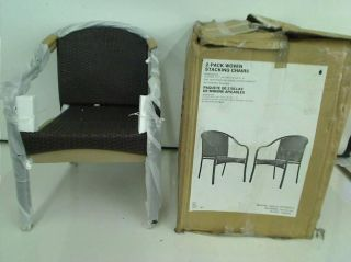 Hampton Bay Wicker Patio Stack Chair 2 Pack $119 00