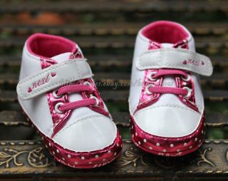 Infant Baby Girl Walking Shoes Crib Sneakers Size 0 6 6 12 12 18 Months