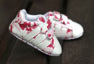 Baby Girl Pink Camo Sport Shoes Soft Sole Walking Sneakers Newborn to 18 Months