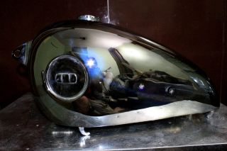 BSA B31 Plunger Chrome Gas Fuel Tank 1951 1954