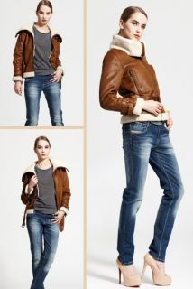 Women's Warm Faux Suede Fur Coats Shearing Motorcycle Jacket Outerwear Tops