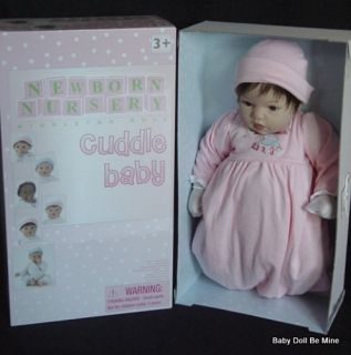 New in Box Lee Middleton Baby Face Baby Doll Brunette Hair Brown Eyes