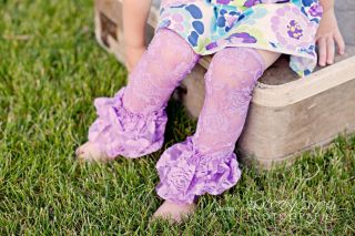 New Baby Girls Infant Toddler Lace Leg Warmers Legging Ruffles Pettiskirt 0291D