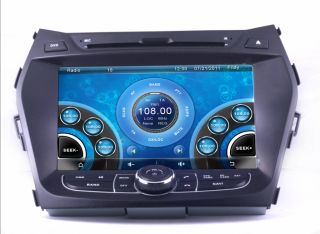 "8"" Car DVD GPS Navi Radio RDS USB BT for 2013 Hyundai IX45 Santa FE Free Camera"