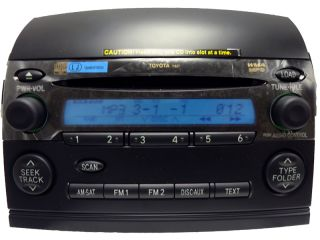 Toyota Sienna Satellite Radio Stereo 6 Disc Changer  CD Player 11827 New Face