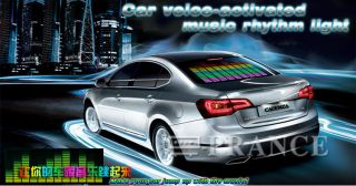 Car Music Rhythm Sticker Sound Music Activated Equalizer LED El Sheet Light Lamp