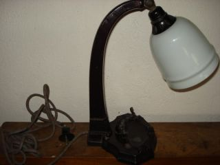 Art Deco Style Electric Desk Lamp Elephant Cast Iron