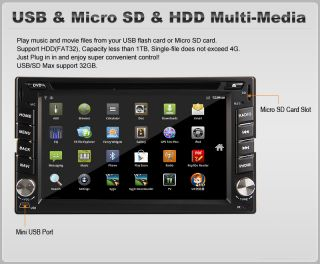 ★double DIN Car Stereo GPS Navigation CPU 1g Bluetooth iPod Android 3G WiFi ★