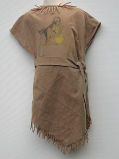 Kids Childrens Girls Pocahontas Indian Halloween Costume Size 4