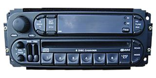 02 03 04 Dodge Jeep Chrysler Dakota Durango RAM Radio 6 Disc Changer CD Player