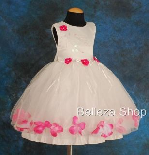 White Wedding Flower Girl Pageant Party Dress Sz 4T 5
