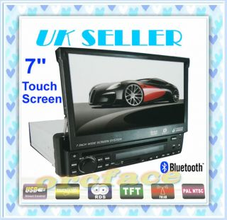 7 IN DASH Touch HD Screen in Car DVD player 1 DIN TV FM AM BLUETOOTH IPOD RDS