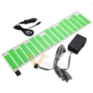 Sound Music Activated Sensor Green LED Light Equalizer Glow Car Sticker 45x11cm