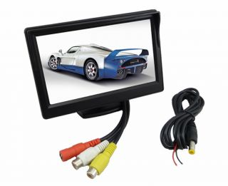 "5"" TFT LCD Car Rear View Monitor 2 4G Wireless Car Backup Camera Night Vision"