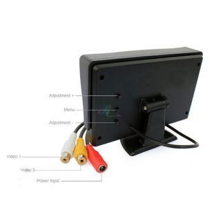 "S5G 4 3"" TFT LCD Car Rearview Backup Color Monitor Screen Reverse Camera Kit DVD"