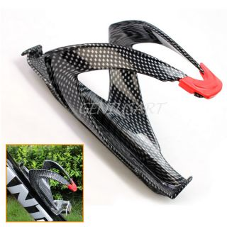 New Glass Carbon Fiber Bicycle Bike Cycling Water Bottle Holder Cage Blk Outdoor