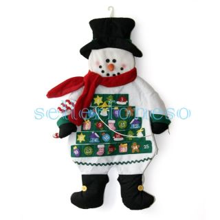 2012 Christmas Advent Calendar Snowman with Red Scarf Brand New