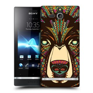 Head Case Aztec Animal Faces Protective Back Case Cover for Sony Xperia U ST25i