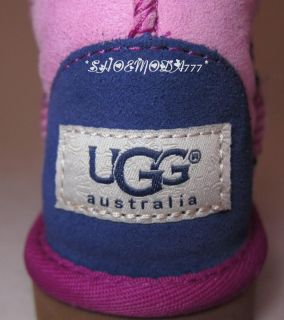 UGG Australia Classic Patchwork Sheepskin Boots Shoes Cactus Flower 8 10 UK 7 9