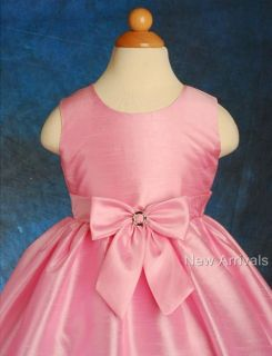 Pink Flower Girl Infant Wedding Party Dress Sz 2T 3T
