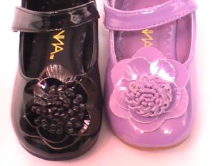 Girls Patent Flats w Flower ONE2 Toddler Flower Girl Pageant Dress Shoes
