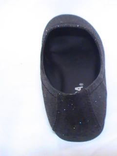 Girls Black Glitter Flats SD SCOUT2 Girl Sz 1