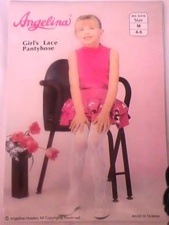 Girl w Bow Lace Design Pantyhose Ang Pageant Flower Girl Dress