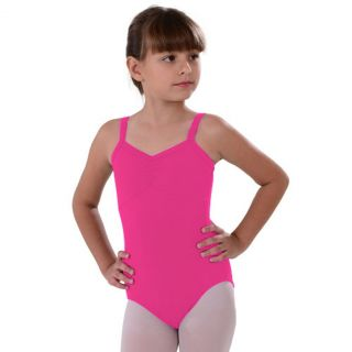 So Danca Toddler Girl 2 4T Dark Pink Camisole Rhinestone Dance Leotard