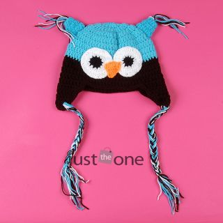 Lovely Owl Design Baby Boy Girl Handmade Knit Crochet Beanie Hat Cap Photo Prop