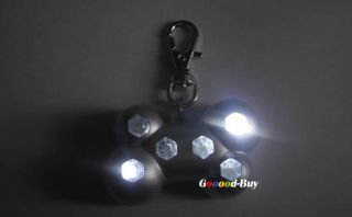 Pet Dog Puppy Night Safety Blinker Lighte Collar Tag Flashing 6 LED