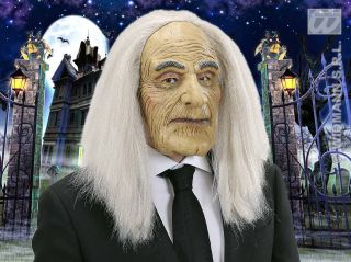 Scary Old Man Butler Mask Adams Family Halloween Fancy Dress