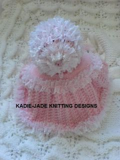 Knitting Pattern 4 Premature Baby Reborn Doll 15 17 in 4 Piece Matinee Set