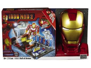 Mega Bloks Iron Man Hall of Armor Ironman Building Set