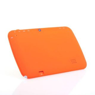 "7"" Android 4 0 Preschool Education Fun Capacitive Tablet PC 4GB Child Bag Pen Or"