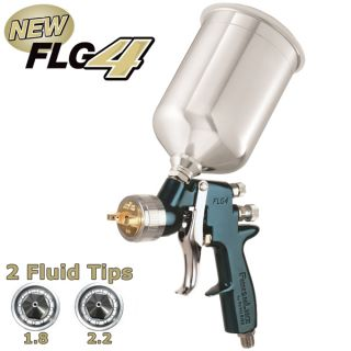 New DeVilbiss Finishline 4 Primer HVLP Spray Gun 1 8 2 2 Tips Auto Paint Priming
