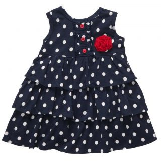 Carter's Playwear Baby Girls 2 Piece Polka Dot Dress Diaper Cover Set 12 M