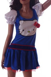 Womens Adult Sanrio Hello Kitty Halloween Party Costume Dress Small Medium New