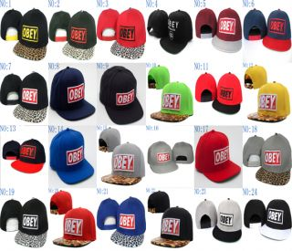 In Box Unisex Fashion Hip Hop Obey Supreme Snapback Hat Cap Leopard Visor Cap